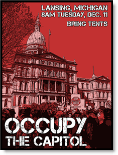 """Occupy the Capitol"" graphic from the Occupy Lansing movement."