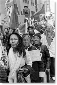 "Photo of a ""Free Tibet"" demonstration in Toronto, courtesy of user ""Metrix X"" on Flickr.com."