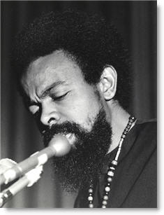 African American poet Amiri Baraka (LeRoi Jones) speaking at Operation Breadbasket in Chicago (estimated date 1962-1967).
