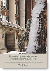 Beal's History of the Michigan Agricultural College - cover