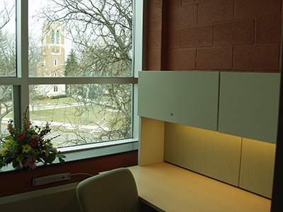 A newly-renovated faculty carrel in the MSU Main Library.