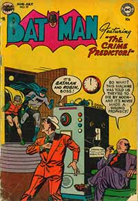 Cover of Batman comic book