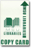 MSU Libraries Copy Card