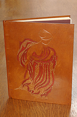 A fine leather-bound edition of Sylvia Plath's The Crystal Gazer and Other Poems.