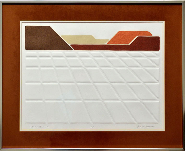 A depiction of the sunrise with white plains depicted as white graphical squares strategically placed.