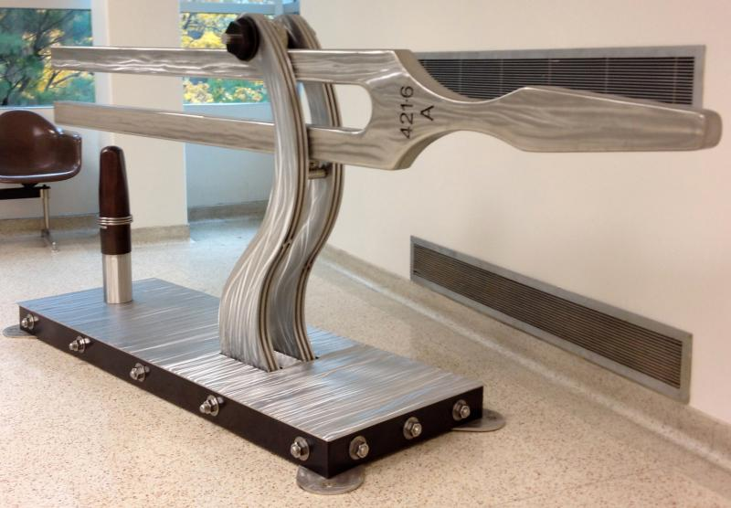 Silver Clang Tone sculpture
