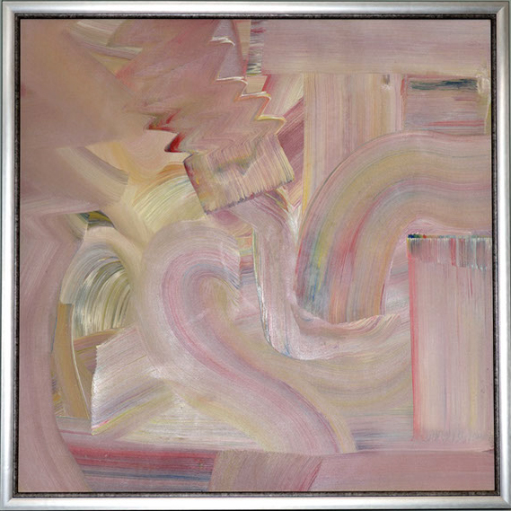 swirls of pastel colors of acrylic paint on canvas