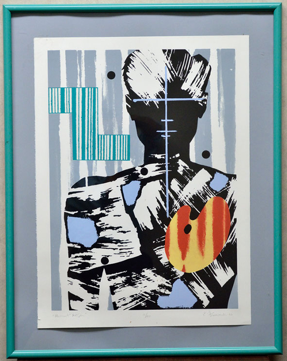 Modernistic Portrayl of a women with graphic characteristics