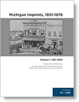 Michigan Imprints, 1851-1876 - book cover
