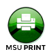 MSU Print icon, found on the desktop of Selected Resources computers.