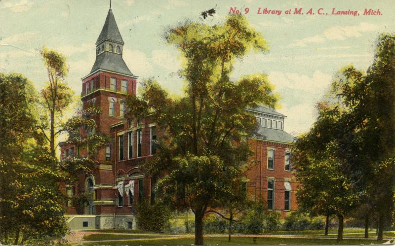 M.A.C. Library at Linton Hall, ca. 1910.