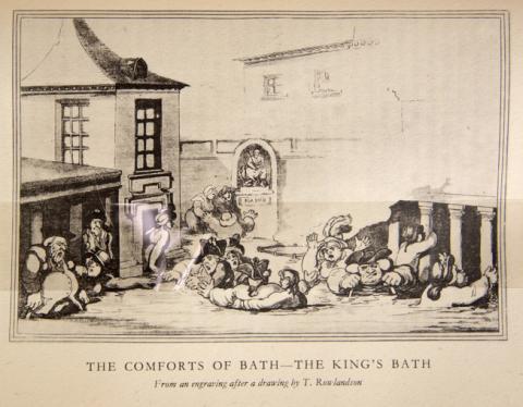 Illustration: The Comforts of Bath - The King's Bath