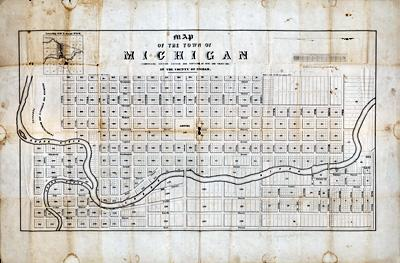 1847 Map of Lansing