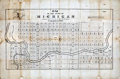 1847 Map of Lansing
