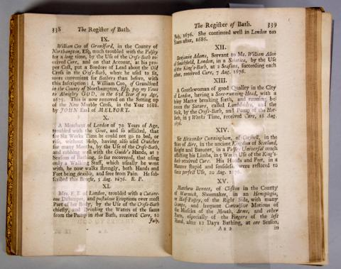 Book: Guidott, Thomas.  Collection of Treatises Relating to the City and Waters of Bath…. 1725.