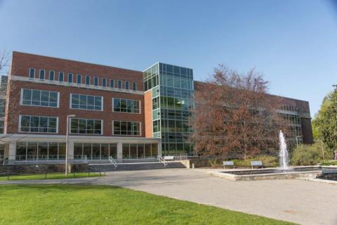 Photo of the outside of the Main Library building