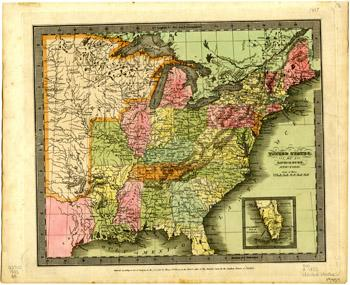 1833 map of the United States