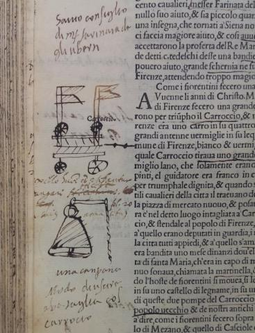 A page from Giovanni Villani's Florentine Chronicle