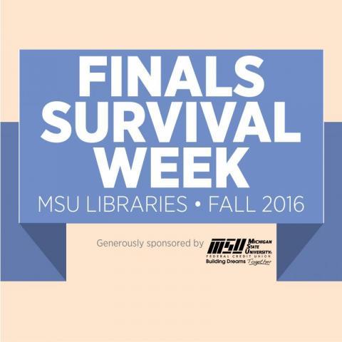 Finals Survival Week logo banner