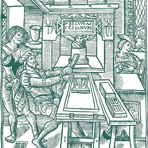 Medieval printmaking illustration