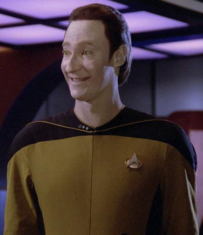 Brent Spiner as android Data's evil brother Lore, Star Trek: the Next Generation, episode 2364.