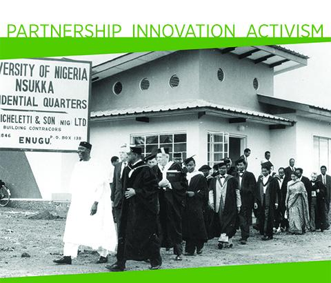 President John A. Hannah in the opening convocation ceremony for the University of Nigeria Nsukka in 1960