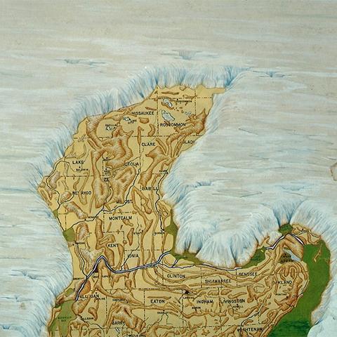 map of Michigan glacial activity