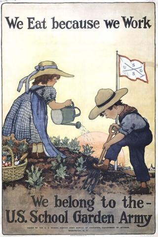 U.S. School Garden Army poster