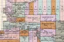 WWII grid system map detail