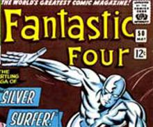 Fantastic Four's Silver Surfer comic book cover