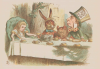 Tea party scene from Alice in Wonderland