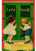 Small Children around a Let's Cook sign
