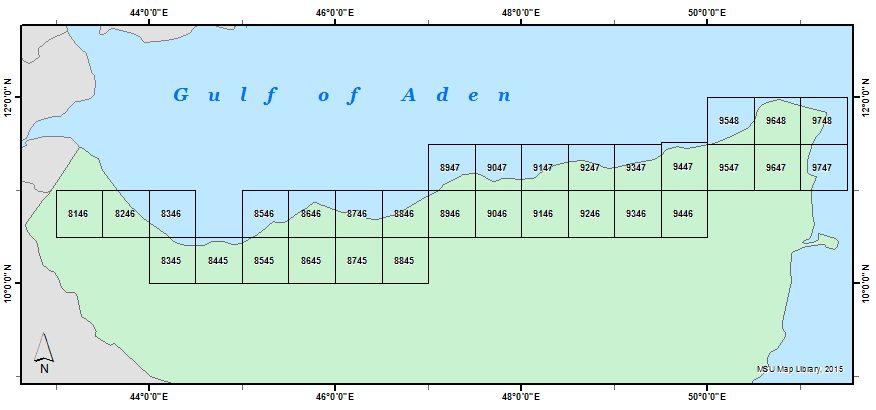 Northern Somalia 100K Index Diagram