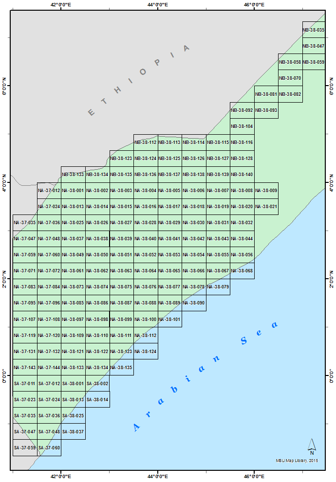 South Somalia 100K Index Diagram