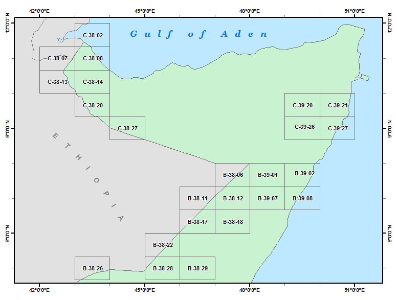 Somalia 200K Index Diagram