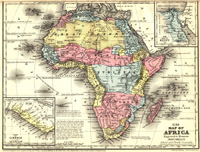 Map of Africa, 1867