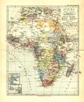 Afrika Politische Übersicht, 1892