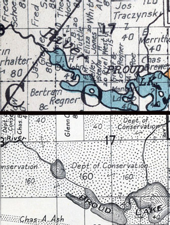 Part of Commerce Township in 1921 and 1947