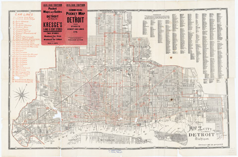 Map of the City of Detroit, Michigan, 1915