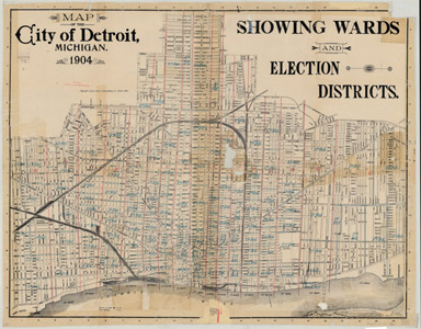 Map of City of Detroit, 1904