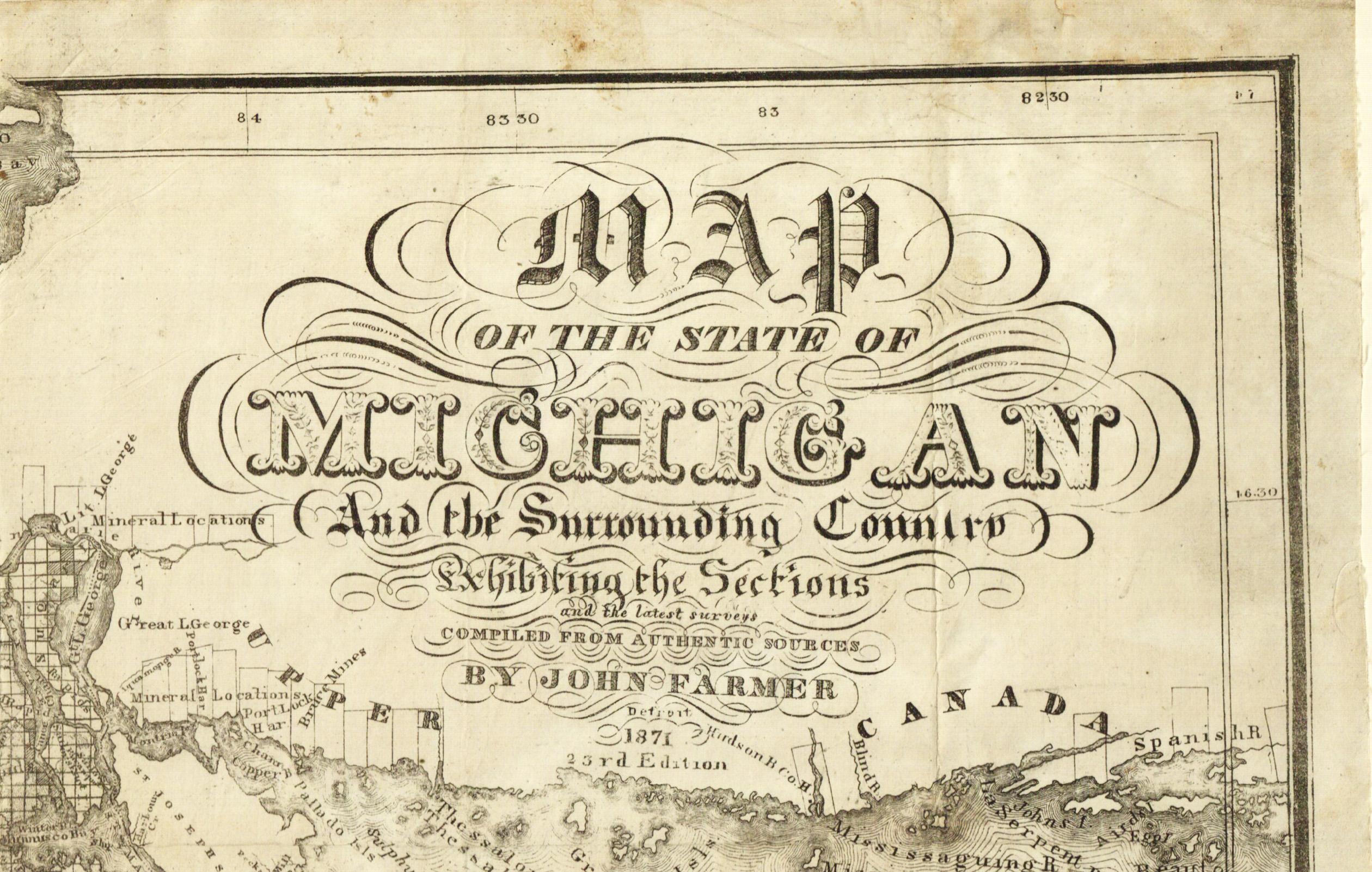 Cartouche John Farmer Map Library MSU Libraries - United states district court jurisdiction map